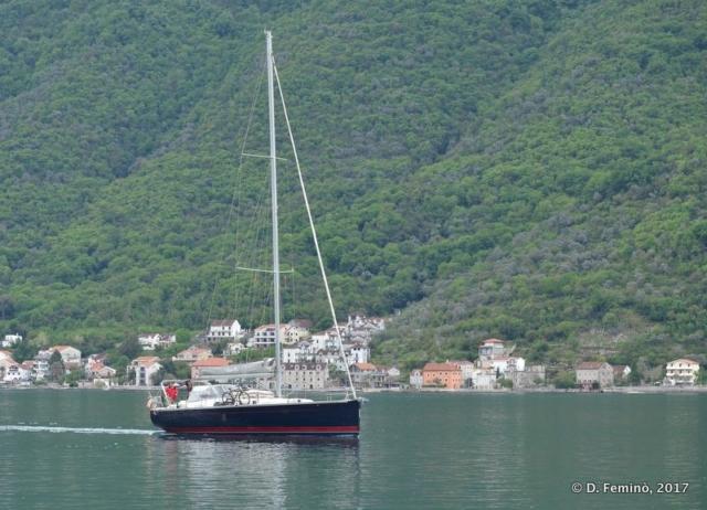 Boat in Kotor Bay (Montenegro, 2017)