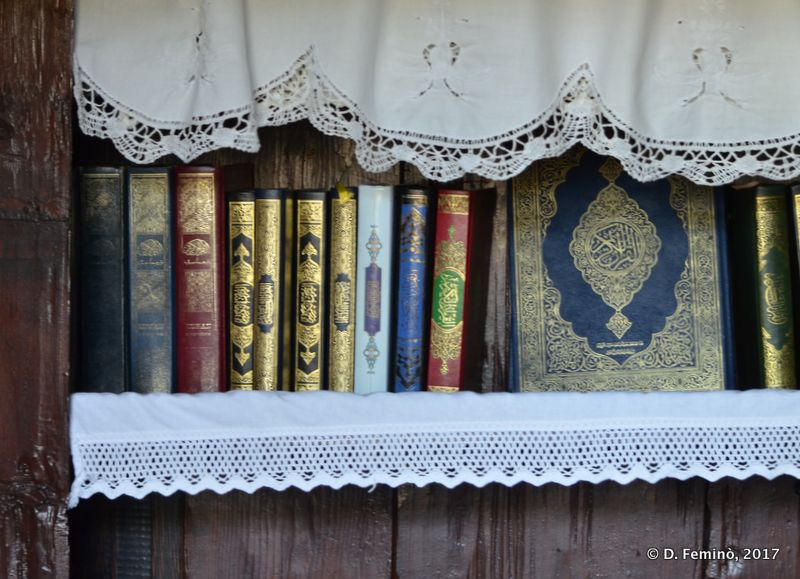 Books in tekke monastery (Blagaj, Bosnia, 2017)