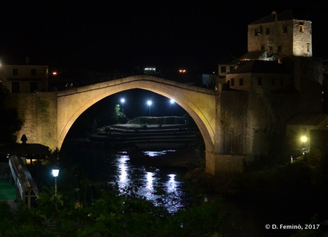 Stari most at night (Mostar, Bosnia, 2017)