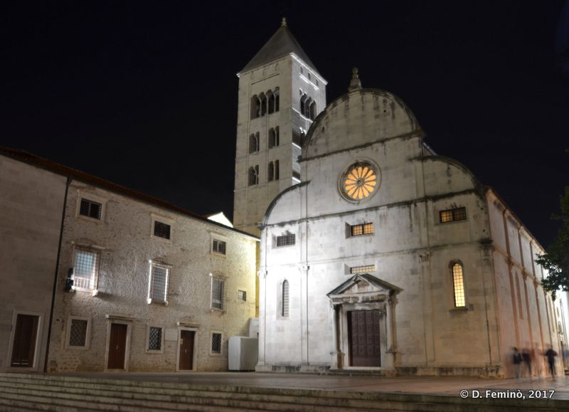 St.Mary's church at night (Zadar, Croatia, 2017)