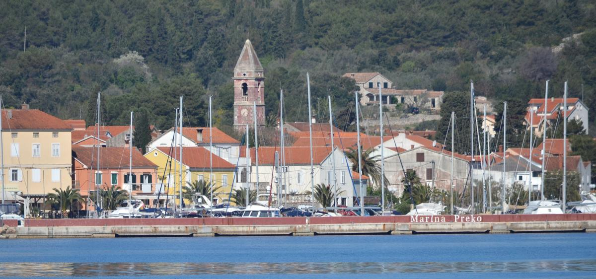 The town from the sea (Preko, Croatia, 2017)