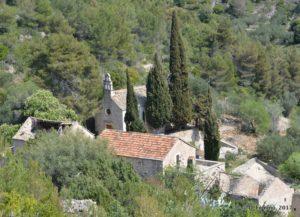 View of the abandoned village (Malo Grablje, Croatia, 2017)