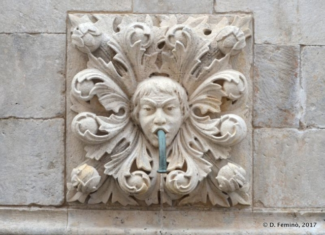 Detail of Onofrio's fountain (Dubrovnik, Croatia, 2017)
