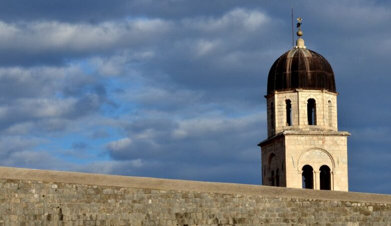 A bell tower out of Dubrovnik walls